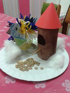 Vogel met voederhuisje (groot werkje voor eventueel meerdere weken) Feeding Birds In Winter, Crafts For Kids, Diy Crafts, Preschool Themes, Winter Kids, Little People, Holidays And Events, Bird Feeders, Hobbit