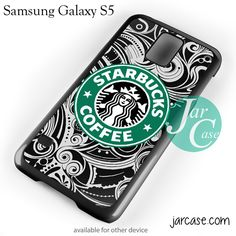 Starbucks Floral Cup Phone case for samsung galaxy S3/S4/S5