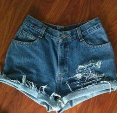 Vintage high waisted shorts #GIRANO #Denim