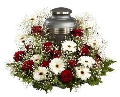 Contact our florist in Des Plaines, IL for cremation urn flowers and funeral arrangements at Arrangements Funéraires, Funeral Floral Arrangements, Funeral Sprays, Funeral Urns, Wreaths For Funerals, Memorial Flowers, Cemetery Flowers, Sympathy Flowers, Cremation Urns