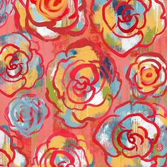 This abstract rose pattern design is featured in this inspiring blog post on Pattern Observer. I love the bold reds and pinks used in this repeating pattern, which features rose illustrations in a tossed layout. Surface Pattern Design, Pattern Art, Abstract Pattern, Abstract Art, Pattern Designs, Fabric Patterns, Art Patterns, Rose Illustration, Floral Drawing