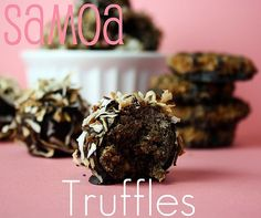 samoa truffles....oh dear..there goes the diet!