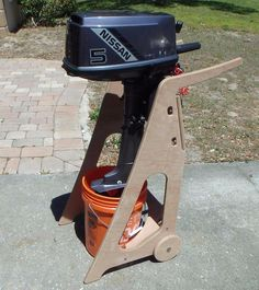 Wooden Outboard Stand | eBay