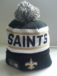 af89a11b9 Beanie Nfl Hat Knit Cap New Era Pom Winter 2014 Cuffed New Orleans Saints   NewEra