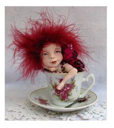 Rose Cup & Saucer Tea Leaf OOAK Fairy   http://cgi.ebay.com/ws/eBayISAPI.dll?ViewItem=150951128287