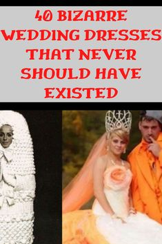40 Bizarre Wedding Dresses That Never Should Have Existed