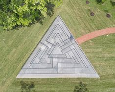 """Glass Labyrinth is the first permanent Robert Morris labyrinth installed in the US. """"The idea of a labyrinth as a place in which we lose ourselves in order to find ourselves is intriguing,"""""""