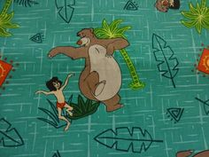"RARE ""THE JUNGLE BOOK"" Handmade Cotton Pillowcase Standard/Queen #Handmade #DisneyMovie"