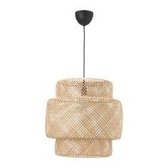 IKEA - KNIXHULT, Pendant lamp, bamboo, Gives a soft glowing light, that gives your home a warm and welcoming atmosphere. Each lamp is unique since it is made of bamboo with natural color variations and is hand-woven by skilled craftspeople. Pendant Lamp Shade, Plastic Ceiling, Lamp, Ikea, Pendant Lamp, Ikea Finds, Lamp Shade, Ikea Lamp, Lamp Light