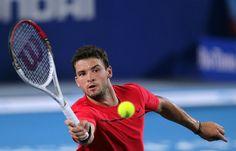 Grigor Dimitrov plays with the Wilson Pro Staff 95 tennis racket