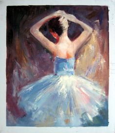 20 x 24 inches - Figurative - Ballerina- - oil on canvas painting art - Gift idea by ChiangPaintingArt on Etsy Oil Painting Abstract, Abstract Art, Painting Art, Oil On Canvas, Canvas Art, Dance Paintings, Wooden Bar, City Life, Ballerina