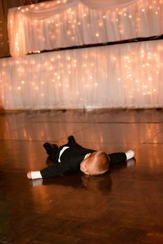 The true mark of a great wedding? Guests who never want to leave the dance floor!! Seriously, though, this kid is so awesome!