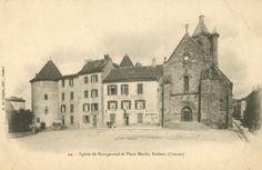 BOURGANEUF, église et place Martin Nadeau - Bfm Limoges