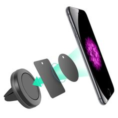 Nexus GOLD Worlds Slimmest Phone Ring Holder,Magnetic Car Grip Mobile Stand for Ultra-thin Phone Ring Frame for iPhone 11 Pro 8 Plus,Sony