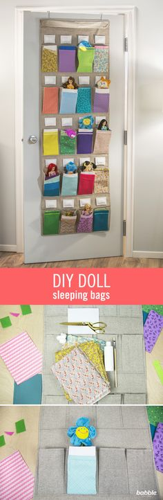 Attempting to clean your kid's room is challenging, but what's even harder? Getting them to organize their own toys. The pile of toys on the floor just never ends — until now. With this fun organization hack, your kids will voluntarily organize the mess. Repurpose a shoe organizer into DIY Doll Sleeping Bags with some fabric, glue, and paint. When bedtime comes, your little ones will want to tuck their dolls into their own personalized beds — it's like a slumber party for their toys!