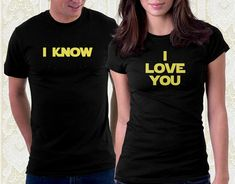 Star Wars Han Solo I Know Tshirt 100% Cotton Shirt Men Valentine's Day Geek Gift Great Couples Gift