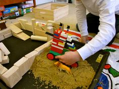 Lego Seige Tower w/battering ram for ancient Assyria study, with dirt ramp example. SOTW