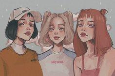 powerpuff girls 🌈 except Bubbles who looks kinda 2005 💃 . Aesthetic Drawing, Aesthetic Anime, Aesthetic Art, Cartoon Sketches, Cartoon Art, Art Sketches, Cartoon Girls, Powerpuff Girls, Art Sketchbook