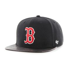 62925a59367 Boston Red Sox Constrictor Captain Black 47 Brand Adjustable Hat