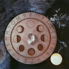 Unusual Optical Moon Phase // Rune Crystal Grid by UnusualOptical