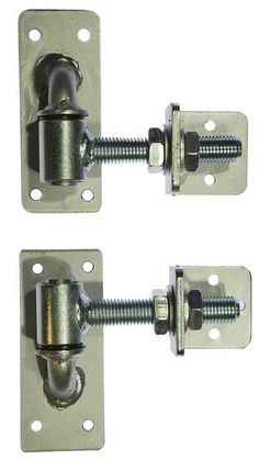 These adjustable hinges can be fitted im many ways to most gates, able to be adjusted if movement has made the gate out of alignment, all you need to do is simply turn the nut to move the hinge in or out moving the gate back into place. Barn Door Hinges, Gate Hinges, Gate Latch, Welding Projects, Diy Wood Projects, Vintage Industrial Furniture, Industrial Style, Fence Design, Door Design