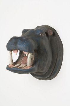 Smiling Hippo Bust - Anthropologie.com