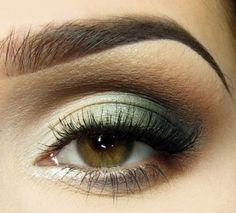 Green and Brown eyeshadow, always looking for new color.