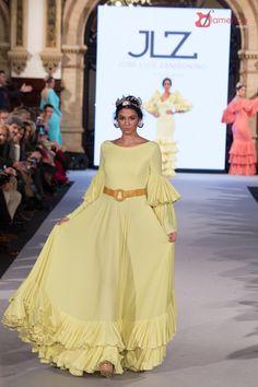 Jose Luis Zambombino - We Love Flamenco 2018 Ruffled Dresses, Maxi Dresses, Formal Dresses, Flamenco Skirt, Summer Maxi, Orange, Yellow, Belly Dance, Designer Wear