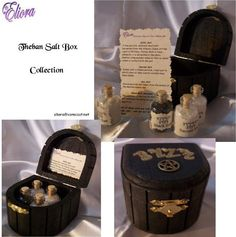 Witches Theban Salt Box and Salt Collection