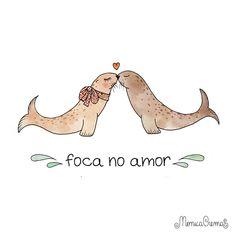 Foca no amor by Mônica Crema