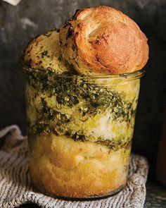 Pesto Bread in a Jar