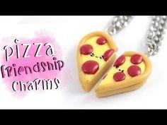 Kawaii Pizza Friendship Charms polymer clay tutorial