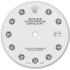 Other Watch Parts and Tools 180246: Rolex Mens Datejust Stainless Steel White Color Dial With Diamond Accent -> BUY IT NOW ONLY: $140 on #eBay #other #watch #parts #tools #rolex #datejust #stainless #steel #white #color #diamond #accent