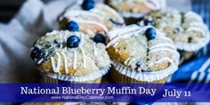 NATIONAL BLUEBERRY MUFFIN DAY – July 11th 2016