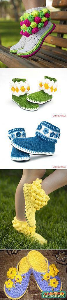 IDEE e master class per le scarpe maglieria.