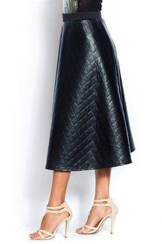 Quilt Pattern Teal Length Skirt Vegan Leather Plus Size $35.00