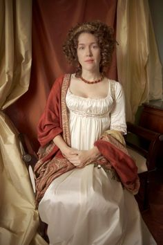 Festive Attyre: A Painted Empire Gown No Victorian but painted Regency. Fabulous!