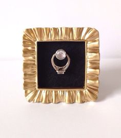 Gold and Black Square Wedding Ring Frame  by Downtownalyshop on Etsy https://www.etsy.com/listing/230458417/gold-and-black-square-wedding-ring-frame