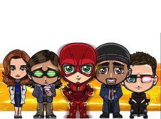 Caitlin, Cisco, The Flash ⚡️, Joe and Harrison
