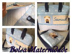 Bolsa de maternidade personalizada com trocador de fraldas portátil.