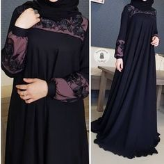 Image may contain: one or more people and people standing Hijab Fashion Summer, Niqab Fashion, Modern Hijab Fashion, Muslim Women Fashion, Fashion Outfits, Abaya Designs Latest, Habits Musulmans, Burqa Designs, Moslem Fashion