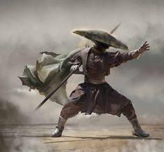 Asian martial arts inspired art, illustration, and digital paintings 朧月象ヲ也 Oboro Tsukiyou o Nari