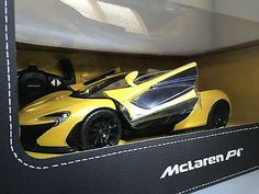 Yellow Mclaren P1 Radio Control RC Race Car Toy By Rastar 1/14 Scale
