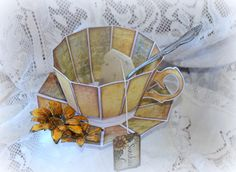 Tea cup featuring Heartfelt Creations Classic Sunflower Collection