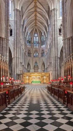 """The Quire at Westminster Abbey in London, England • The Quire (as distinct from the Choir) is an area of the church often referred to as a """"chancel""""."""