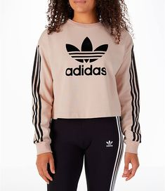 6321640c04 Front view of Women s adidas Originals Fashion League Sweatshirt in Pearl  Pink Adidas Originals Mujer