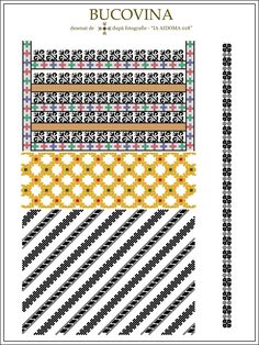Semne Cusute: IA AIDOMA 018 - Bucovina, ROMANIA Folk Embroidery, Embroidery Patterns, Cross Stitch Patterns, Machine Embroidery, Antique Quilts, Embroidery Techniques, Traditional Art, Beading Patterns, Projects To Try