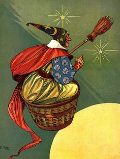 Witch in a basket