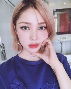 Asian short hair, high fashion makeup, korean girl, pony makeup, hair m Pony Makeup, Hair Makeup, Korean Beauty, Asian Beauty, Beauty Make Up, Hair Beauty, Formal Makeup, High Fashion Makeup, Asian Makeup