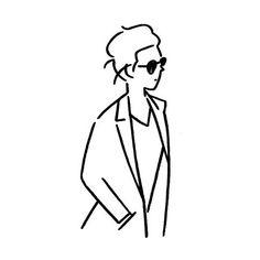 Yu Nagabaさん(@kaerusensei) • Instagram写真と動画 Drawing Practice, Drawing Skills, Line Drawing, Simple Illustration, Digital Illustration, Ligne Claire, Aesthetic Drawing, Minimalist Art, Easy Drawings